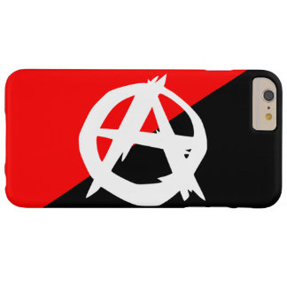 Anarchist Black White and Red Flag Barely There iPhone 6 Plus Case