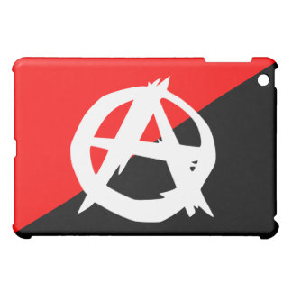 Anarchist Black White and Red Flag Case For The iPad Mini