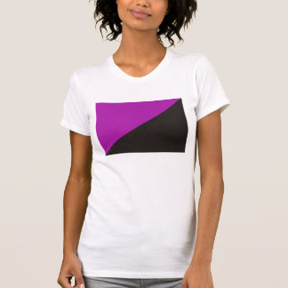 anarchist feminism flag purple black anarchy T-Shirt