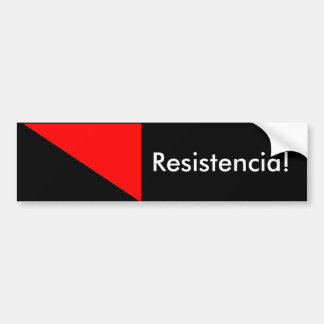 Anarchist Flag: Resistencia! Bumper Sticker