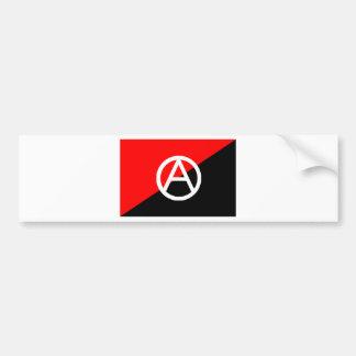 Anarchist flag with A symbol Bumper Sticker