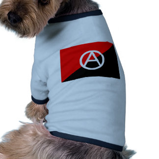 Anarchist flag with A symbol Dog Tee