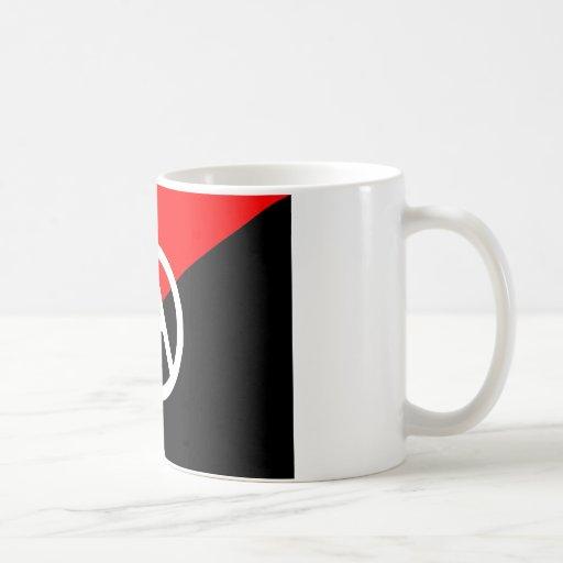 Anarchist flag with A symbol Mug