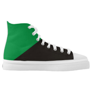 anarchist green flag ecology anarchy symbol high tops