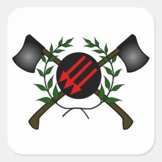 Anarchist Skinhead Communist Skin Head Red/Anarchy Stickers