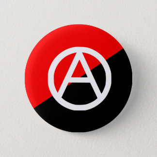 Anarchist With A Symbol2, Colombia flag 6 Cm Round Badge