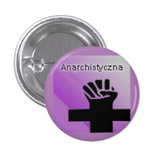 Anarchistyczna Political Logo 3 Cm Round Badge