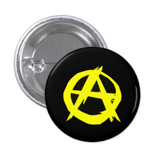 Anarcho Capitalism Black and Yellow Flag 3 Cm Round Badge
