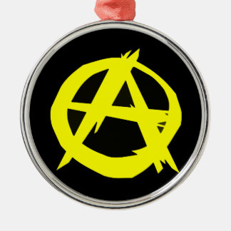 Anarcho Capitalism Black and Yellow Flag Christmas Ornament