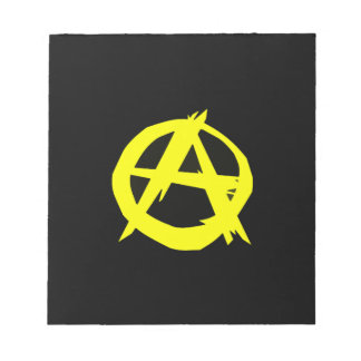 Anarcho Capitalism Black and Yellow Flag Notepad