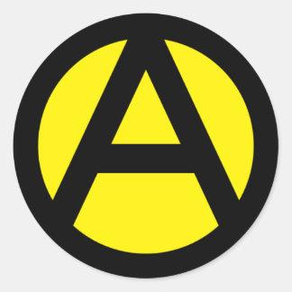 Anarcho-Capitalism Classic Round Sticker