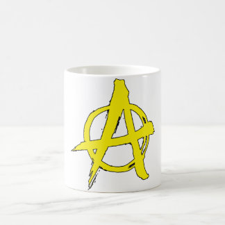 Anarcho-capitalism Yellow Anarchy Symbol Mug
