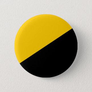 Anarcho Capitalist Black and Yellow 6 Cm Round Badge