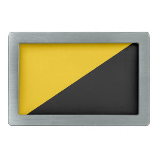 Anarcho Capitalist Black and Yellow Rectangular Belt Buckle