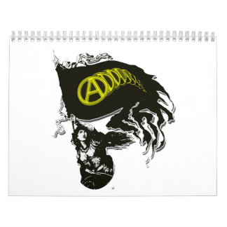 Anarcho Capitalist Tattered Flag with Lady Liberty Calendar