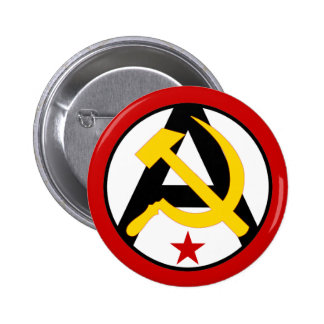 Anarcho-communist logo 6 cm round badge