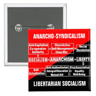 anarcho-syndicalism libertarian socialism pin