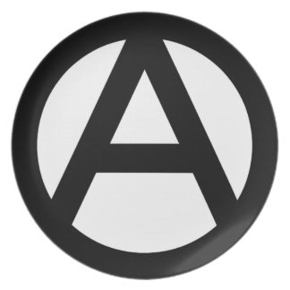 Anarchy anarchy PUNK non government principle flat Dinner Plates