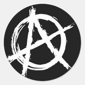 Anarchy Classic Round Sticker
