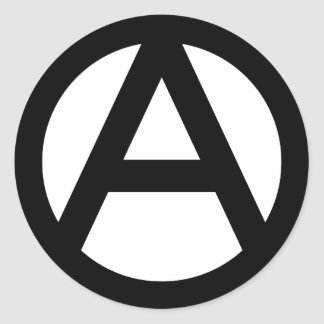 Anarchy Classic Round Sticker