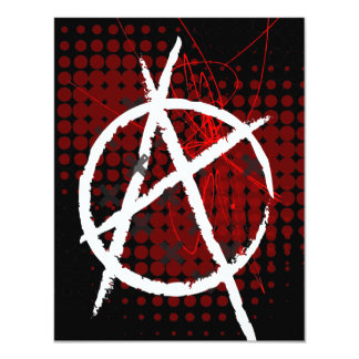 Anarchy Custom Party Invitaitons Card