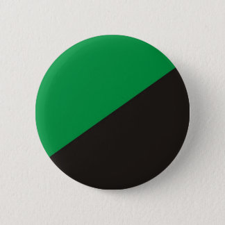 anarchy eco flag green black ecology bio 6 cm round badge