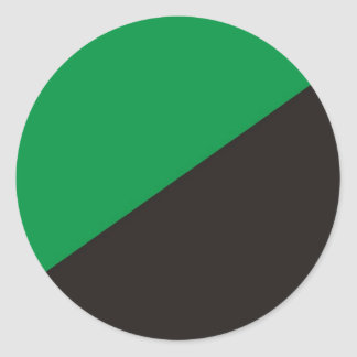 anarchy eco flag green black ecology round sticker