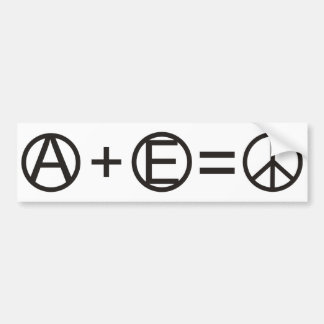 Anarchy + Equality = Peace Bumper Sticker