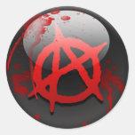 Anarchy Flag Classic Round Sticker
