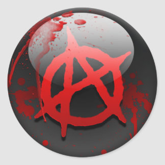 Anarchy Flag Classic Round Sticker
