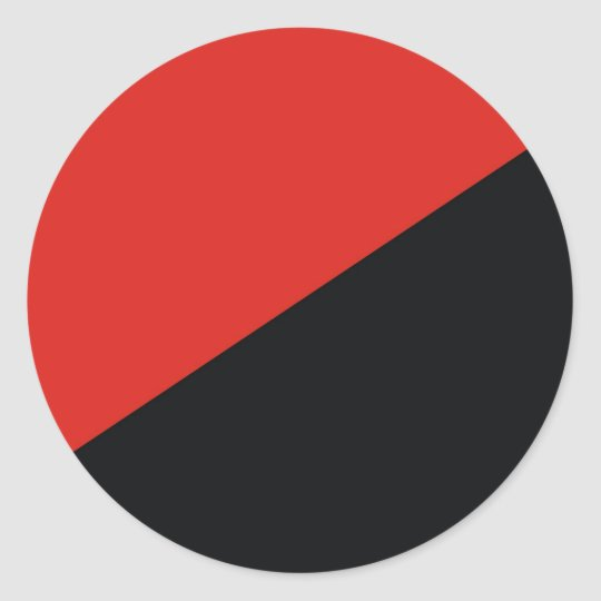 anarchy flag red black classic round sticker