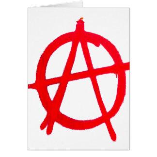 Anarchy Graffiti Card
