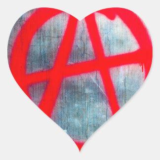 Anarchy Graffiti Heart Sticker