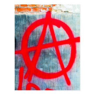 Anarchy Graffiti Postcard