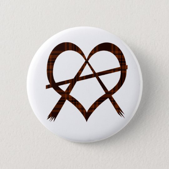 Anarchy Heart Symbol Button Badge