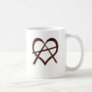 Anarchy Heart Symbol Mug