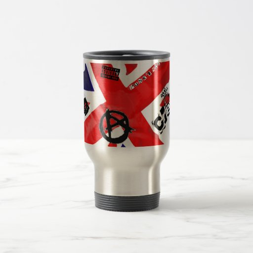 """""""Anarchy In the UK"""" 15 Oz Stainless Steel Travel Mug"""