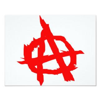 Anarchy 4.25x5.5 Paper Invitation Card