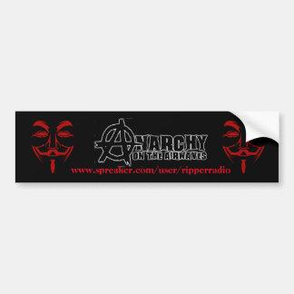 Anarchy on the airwaves bumper sticker