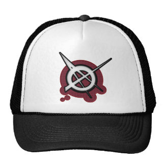 Anarchy punk rock music trucker hats