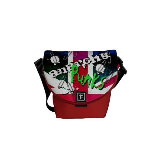 Anarchy Punks Not Dead Grunge Union Jack Messenger