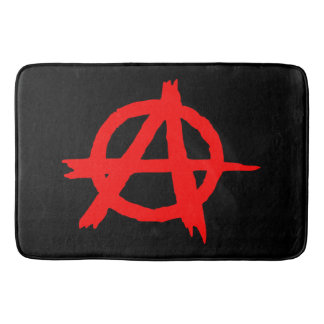 Anarchy Red Bath Mat