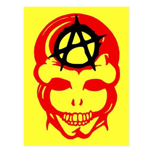 Anarchy Skull 1 Postcard