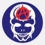 Anarchy Skull Sticker