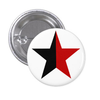 Anarchy star classical (black/red) 3 cm round badge