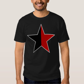 Anarchy star classical (black/red) tee shirt