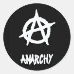 Anarchy Sticker2 Round Stickers