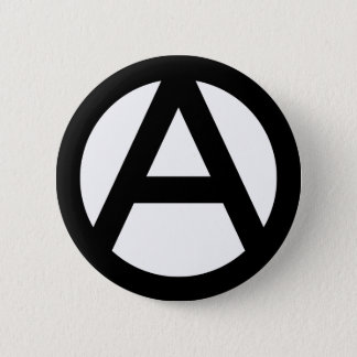 Anarchy Symbol 6 Cm Round Badge