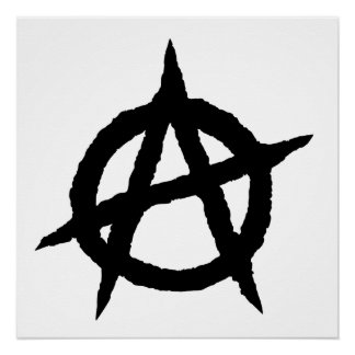 Anarchy symbol black punk music culture sign chaos