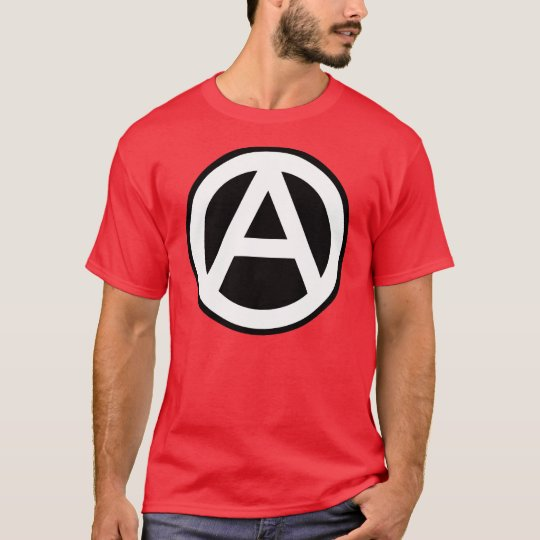 Anarchy symbol classical (black background) T-Shirt